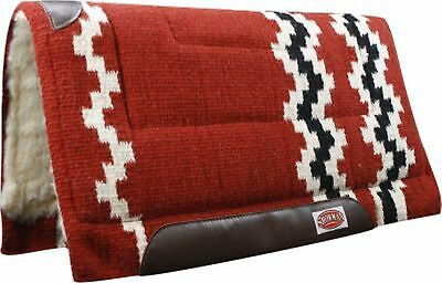 """Showman RUST 36"""" x 34"""" Wool Top Western Cutter Style Saddle Pad! HORSE TACK!"""