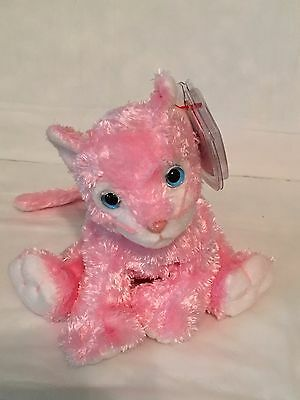 TY Beanie Baby - CARNATION the Pink Cat - Pristine with Mint Tags - RETIRED