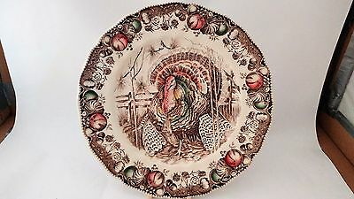 "Johnson Brothers ENGLAND His Majesty Turkey Dinner Plate 10 3/4"" Diameter"