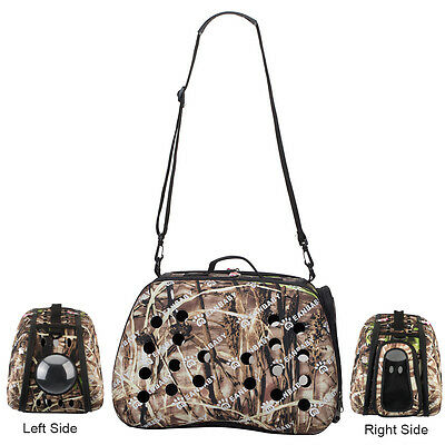 Bubble Carrier Portable Travel Brown Pattern Tote Bag for Dog Cat Small Animal