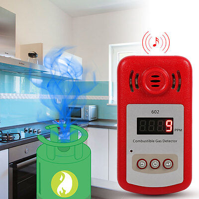 Portable Combustible Natural Gas Detector Gas Leak Tester w/Sound & Light Alarm