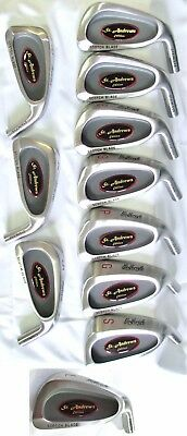St Andrews Golf Club Iron Heads 3-SW 10 Golfcraft Component Cavity Back Irons