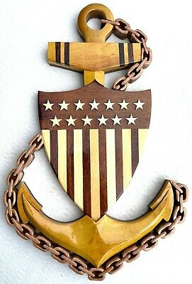COAST GUARD CHIEF PETTY OFFICER EMBLEM - Handcrafted Military Wood Art Plaque