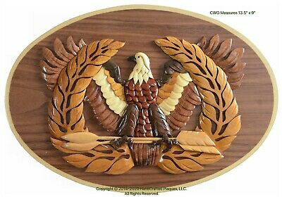 CHIEF WARRANT OFFICER EMBLEM -  ARMY PLAQUE Handcrafted Military Wood Art Plaque