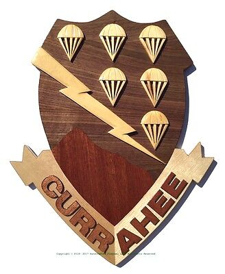 506th AIRBORNE EMBLEM - THE CURRAHEES - Handcrafted Military Wood Art Plaque