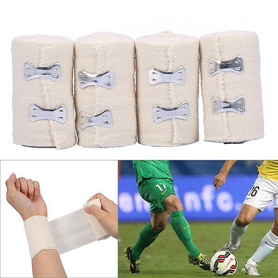 4 Rolls Medical Treatment Elastic Wrap Bandage Gauze Tapes Athletic Care Tape
