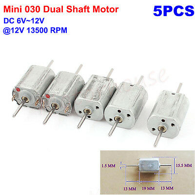 5PCS DC 6V 12V 13500 RPM Dual Axle Shaft Mini Motor Micro DC Motor for DIY Toy