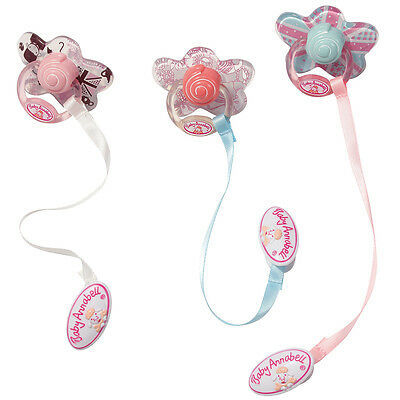 Baby Annabell Dummy with Ribbon and Clip, Zapf Newborn Baby Doll Accessory