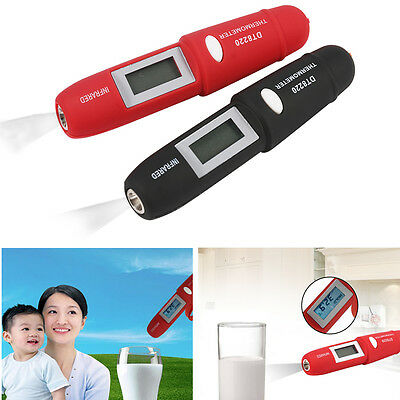 Portable Infrared Thermometer Temperature Pen Non-contact For Cooking Baby Food