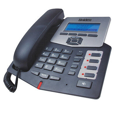 2 x UNIDEN VP100 VOIP VOICE OVER INTERNET CORDED PHONE 2 SIP LINE