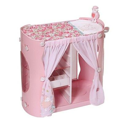 Baby Annabell 2 in 1 Baby Unit Wardrobe and Changing Table, Zapf Baby Accessory