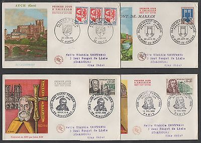 ANNEE 1966 - 40 ENVELOPPES FDC / COTE + 115.00 € / 10 IMAGES (ref 6590)