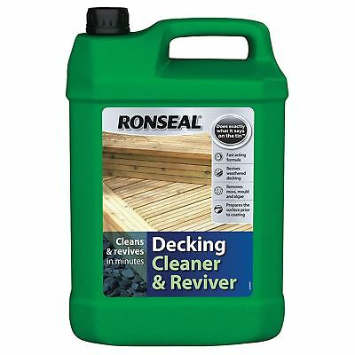 Ronseal Decking Cleaner & Reviver Garden Patio Timber Mould Algae Remover 5L