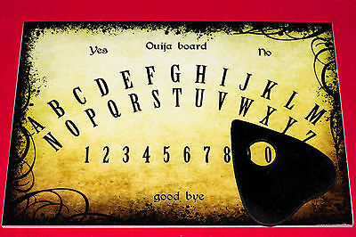 Wooden Classic Ouija Board game & Planchette spooky Ghost Spirit hunt Magick