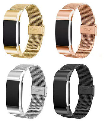 Metal Fitbit Charge 2 HR Replacement Band Strap Secure Wristband