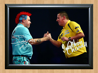 Peter Wright Dave Chisnall Signed Autographed A4 Poster Photo Print Darts Sports