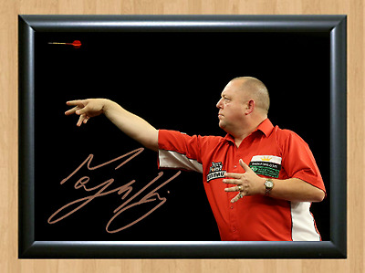 Mervyn King Signed Autographed A4 Poster Photo Print Darts Sports Memorabilia 1