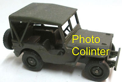 JEEP Willys  avec capote  - Solido 1/43  N°1322