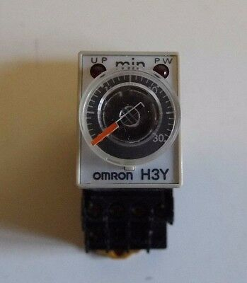 Omron H3Y-4-  Multi Function Timer Relay With Base  240 V ac