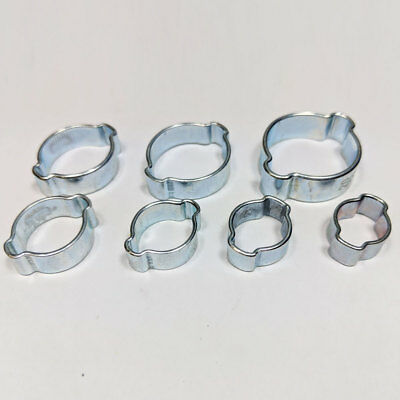 Double Ear O Clips Clamps Petrol Air Water Hose Pipe Steel OClips O-Clips Clip