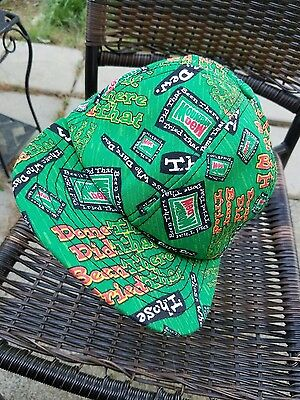 Rare VTG All-over Print Mountain Dew Hat Cotton Snapback USA EUC Swoosh​ ~ Pepsi
