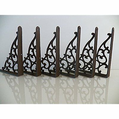 "Lot/Set Antique-Style Cast Iron SMALL 1/4"" SHELF BRACKETS Hangers NEW"