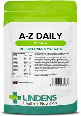 Multivitamin A-Z Daily X 90 Tablets Multivitamins, Minerals Energy & Metabolism