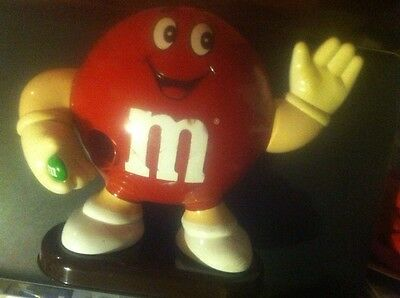 M&M Vintage 1992 Red Candy Dispenser Collectible Mars FUN!!! 5607