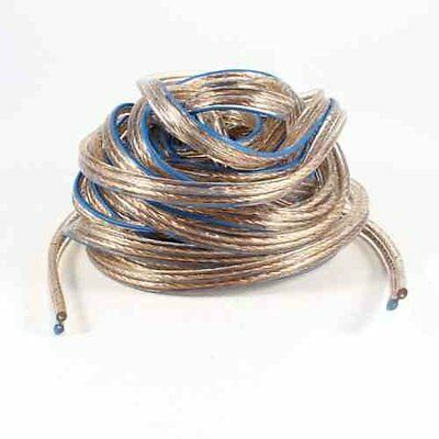 10 METER Speaker Cable - Premium Oxygen Free Copper Wire. Clear with Blue Marker