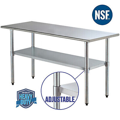 "30"" x 72"" Stainless Steel Commercial Kitchen Restaurant Work Prep Table"