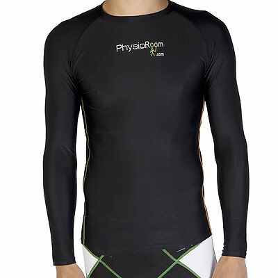 PhysioRoom Funktionsshirt Kompressionsshirt S - XL Langarm Base Layer im Sport