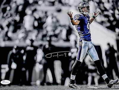 "Justin Tucker Signed Baltimore Ravens 11x14 ""Shrug"" Spotlight Photo JSA"