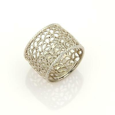 Buccellati Filidoro Lace Sterling Silver 15mm Wide Band Ring
