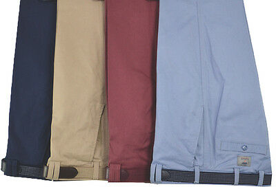 Mens Premium Stretch Chino Trouser Casual Cotton Rich Belted  32-46 Waist