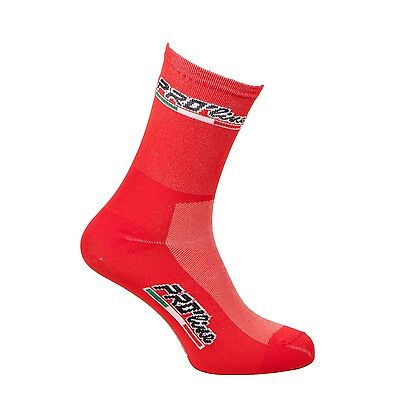 Calzini Ciclismo Proline Rosso Allred Cycling Socks 1 Paio One Size New