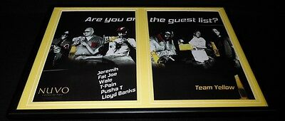 2011 Nuvo Framed 12x18 ORIGINAL Advertising Display Jeremih Fat Joe T Pain