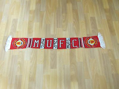 Official MANCHESTER United MUFC Childrens Size FOOTBALL Scarf