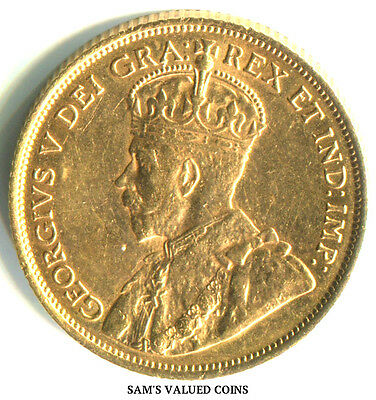 1912 Canadian 5 Dollars Gold Coin -  .24 OZ GOLD