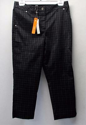 New Ladies Size 6 Spanner Inspired Style Black checked ankle pants