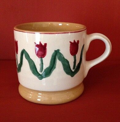Nicholas Mosse  Red Tulip  Irish Pottery small mug sponge ware