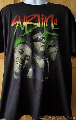 """SUBLIME T-Shirt  """"Rasta Photo Logo"""" Soft Tee Official/Licensed   XXL Only  NEW"""