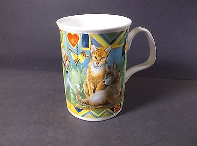 Roy Kirkham Bone China Cats mug 1997