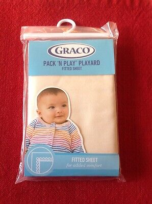 Graco Pack 'N Play Fitted Playard Sheet CREAM new