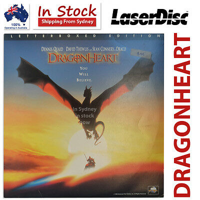 DRAGONHEART Laser Disc Movie Letterboxed Edition