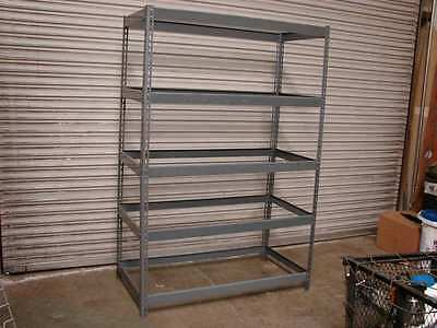 "48"" x 24""  x 72"" high boltless shelving Gray 5 shelves"