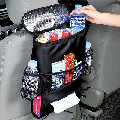 Auto Back Seat Car Multi-Pocket Cool Hot Bag Tidy Insulation Travel Storage New
