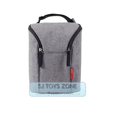 Skip Hop Grab and Go Double Insulated Warmer/Chiller Bottle Bag - Heather Grey