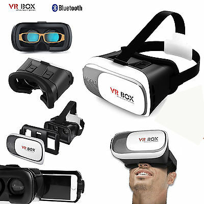 3D VR BOX 2.0 Virtual Reality Glasses Headset+Bluetooth 3D for Samsung Iphone