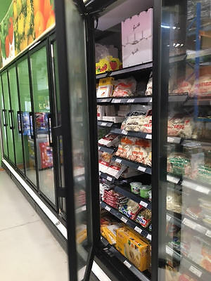 15 Door Glass Display Commercial Freezer