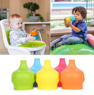 Safety Silicone Sippy Lid Toddler Baby Bottle Cover a Sippy Cup Leak Proof UK